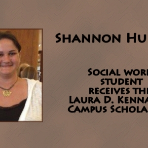 Social Work student receives the Laura D. Kennamer Scholarship in Social & Behav
